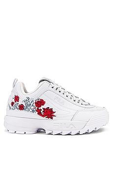 Disruptor II Flower Sneaker Fila $75 NEW