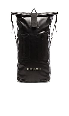 Filson Dry Duffle Backpack in Black