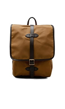Filson Tin Cloth Backpack in Dark Tan
