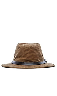 Filson Tin Cloth Packer Hat in Dark Tan