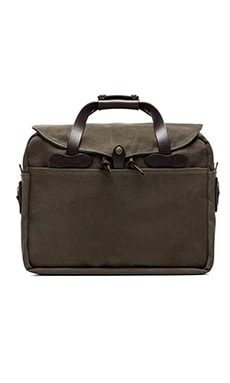 Briefcase Computer Bag in Otter Green