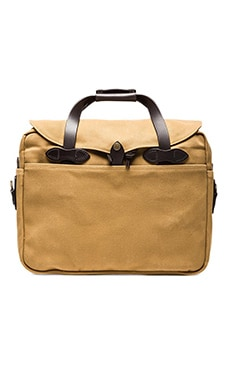Briefcase Computer Bag in Dark Tan