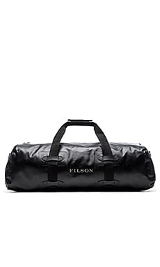 Filson Medium Dry Duffle Zip Top in Black
