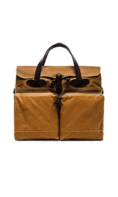 24 Hr Tin Cloth Briefcase en Tostado oscuro