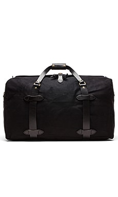 Filson The Black Collection Medium Twill Duffle Bag in Black