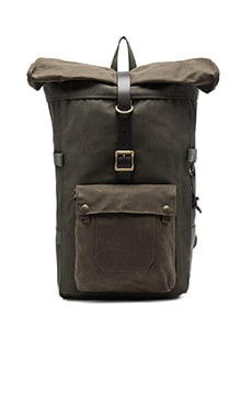 Roll-Top Backpack in Otter Green
