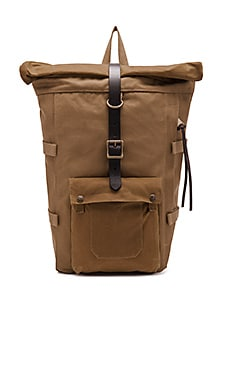 Roll-Top Backpack en Fauve