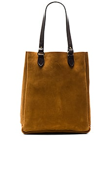 Rugged Suede Tote in Saddle