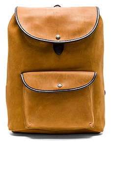 Rugged Suede Backpack in Saddle