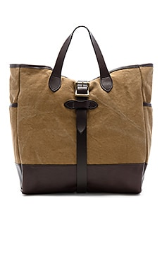Rugged Canvas Tote en Dark Tan