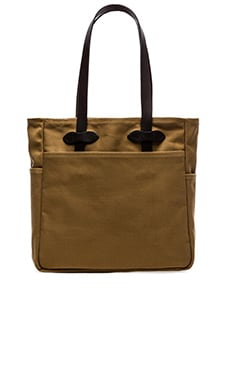 Open Tote Bag in Dark Tan