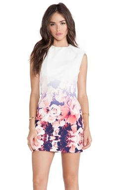 Finders Keepers White Lies Dress in Ombre Floral