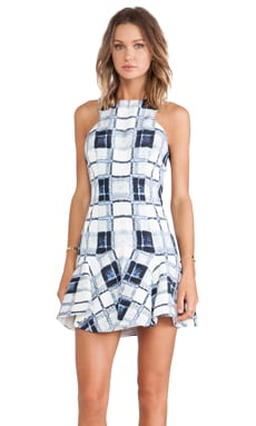 Finders Keepers Take Me Out Dress in Tartan Peacoat