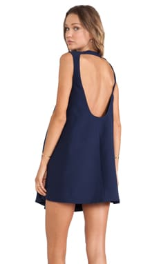 Finders Keepers Small Talk Dress in Peacoat