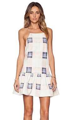 Finders Keepers Strange Fire Dress in Tartan Creampuff