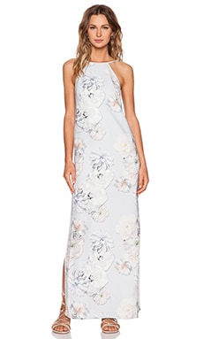 Finders Keepers Check The Rhyme Maxi Dress in Digital Floral Grey