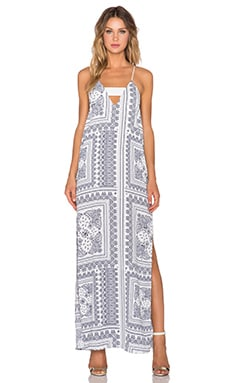 Finders Keepers Midnight Maxi Dress in Bandana Light