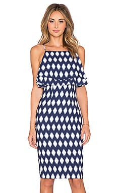 Finders Keepers Move On Up Midi Dress in Moroccan Dark