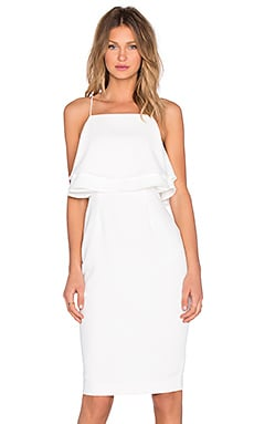 Finders Keepers Move On Up Midi Dress in White