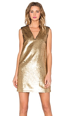The Runner Dress in Gold Sequin