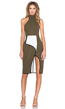 Finders Keepers Get Away Dress in Khaki Spliced