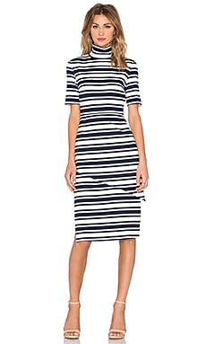 Just My Luck Dress in Navy Stripe