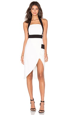 Finders Keepers Boardwalks Dress in White & Black