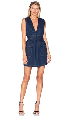 Finders Keepers Empathy Vest Dress in Indigo Denim