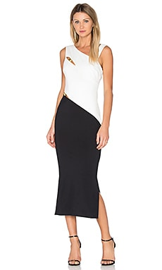 Latrobe Midi Dress in Black and White