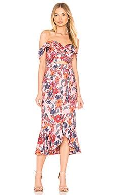 Купить Платье миди rhapsody - Finders Keepers, С открытым плечом, Китай, Розовый