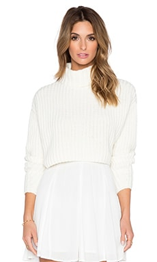 Finders Keepers Like Smoke Knit Sweater in White