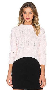 Finders Keepers White Lies Sweater in Light Pink