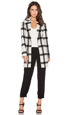 Finders Keepers Vacate Coat in Light Check