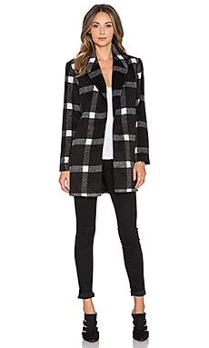Finders Keepers Vacate Coat in Dark Check