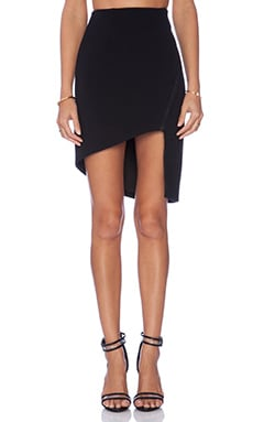 Finders Keepers Love Drunk Asymmetrical Skirt in Black
