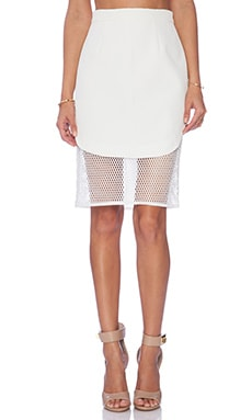 Finders Keepers Fatal Attraction Mesh Slip Skirt in White