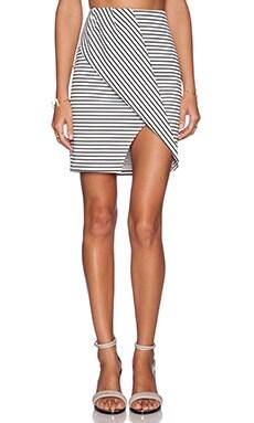 Finders Keepers Tightrope Skirt in Stripe Print