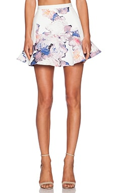 Finders Keepers Path of Rhythm Skirt in Light Floral & White