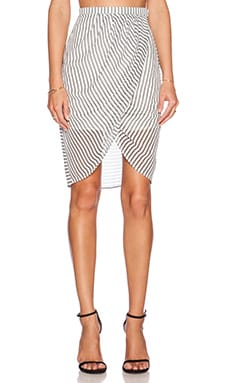 Finders Keepers Stranger in Paradise Skirt in Stripe