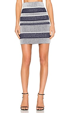 Finders Keepers Playground Tactics Skirt in Navy Stripe