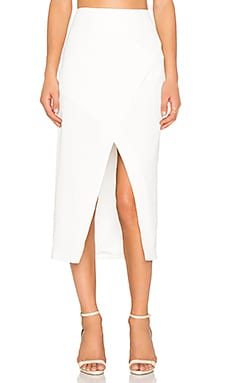 Finders Keepers High Road Skirt in White