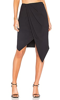 Henson Wrap Skirt in Black