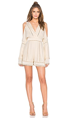 Finders Keepers Unravel Playsuit in Shell