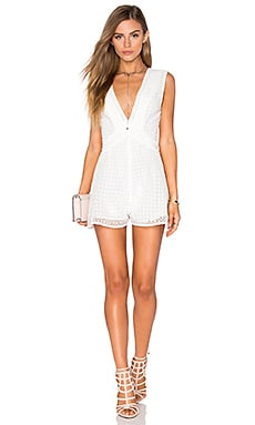Finders Keepers Begin Playsuit in White