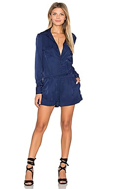 Great Heights Long Sleeve Romper in Ink