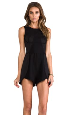 Finders Keepers Back to December Playsuit in Black