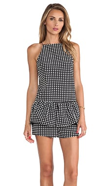 Finders Keepers Strange Fire Playsuit in Black & White