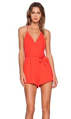 Finders Keepers Here We Go Playsuit in Red