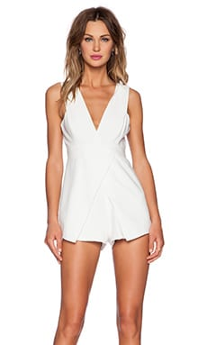 Basic Instinct Playsuit in White