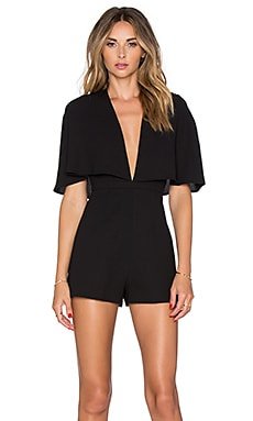 Finders Keepers Natural History Playsuit in Black